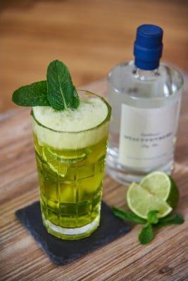 Gin Tonic Matcha Cocktail Detailaufnahme