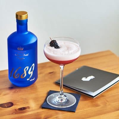 Blackberry Clover Club Cocktail