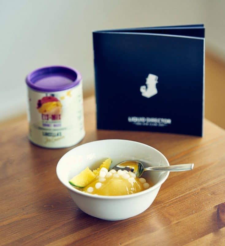 Gin Mango Sorbet mit Luicellas Ice Cream
