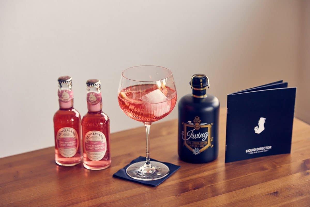 Pink Rhabarber Gin Tonic