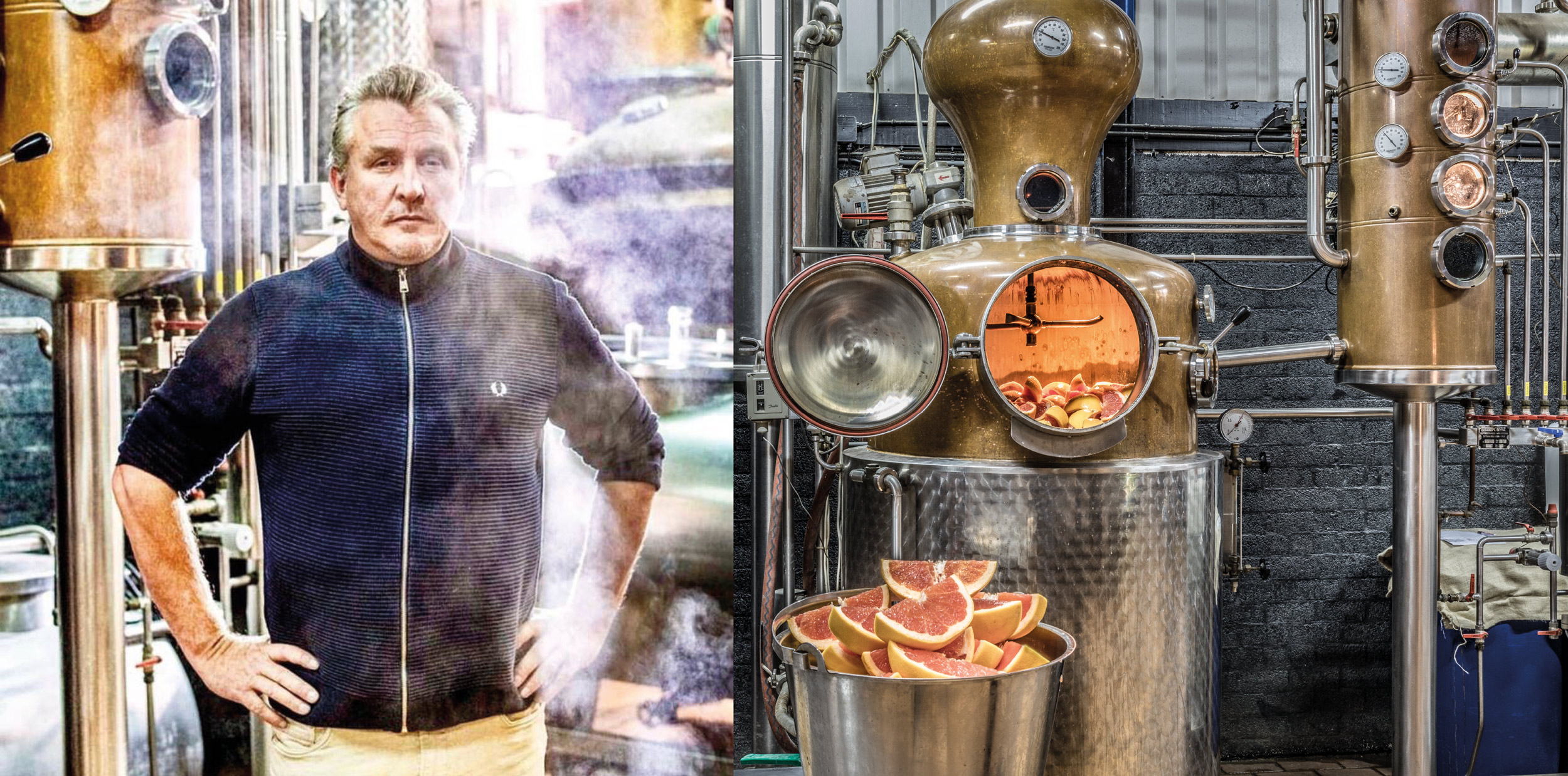 Serge Buss in seiner Destillerie vom 509 Gin