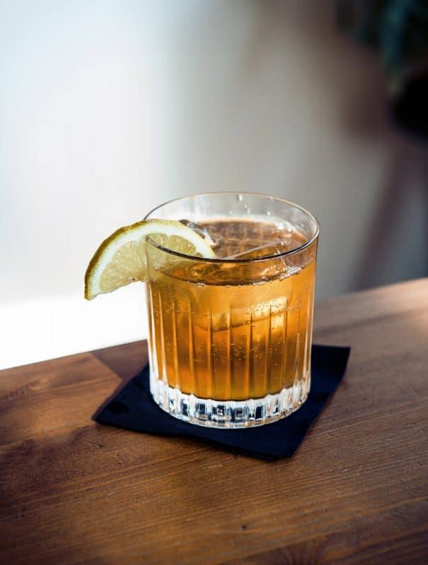 Detailaufnahme vom Gin Buck Cocktail
