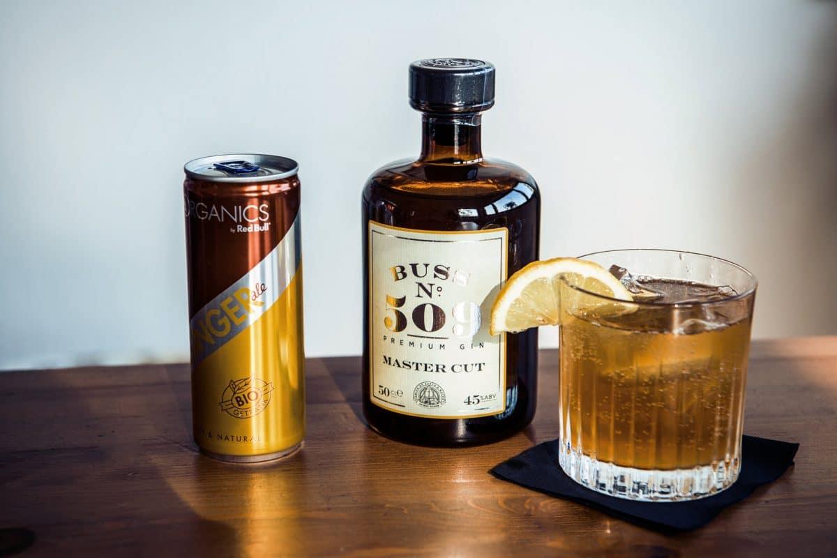 Zubereitung eines Gin Buck Cocktails