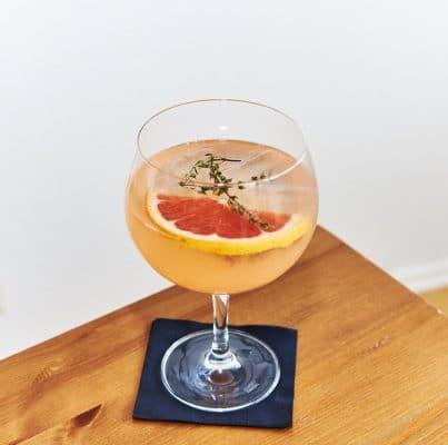 Detailbild des Grapefruit Gin Spritz