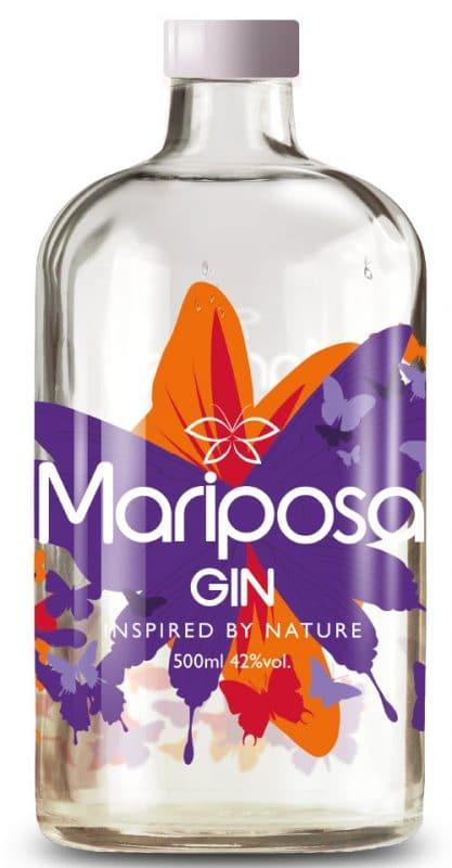 Mariposa Gin Freisteller der Flasche
