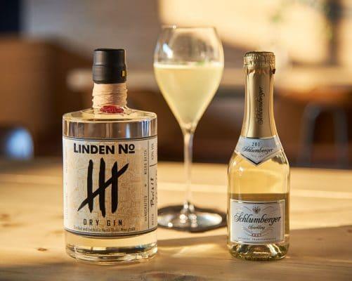 Gin Cocktail mit Gin und Sekt