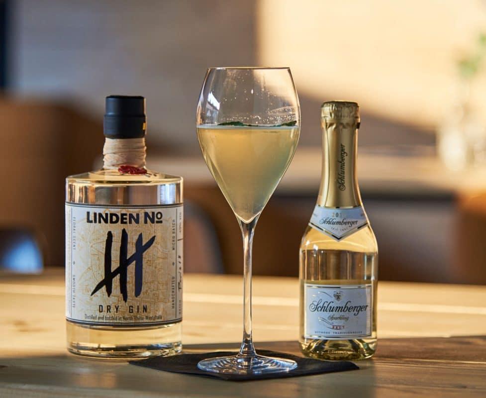 Gin Cocktail mit Sekt