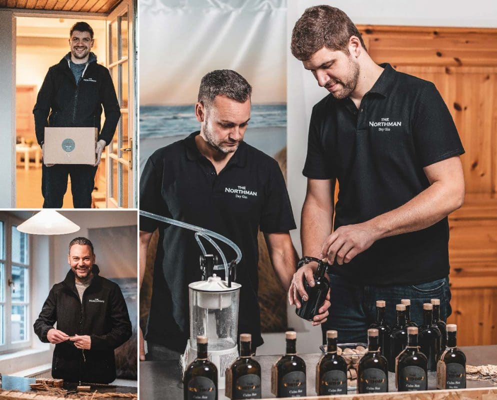 Lars und Claas bei der Produktion des Northman Gins