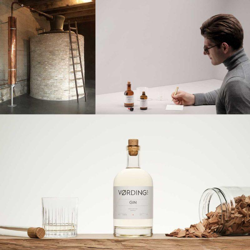 Die Destillerie vom Vordings Gin und seine typischen Zutaten dem Zedernholz