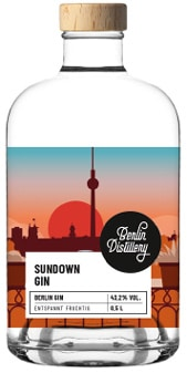 Sundown Gin Flaschen Design Berliner Gin