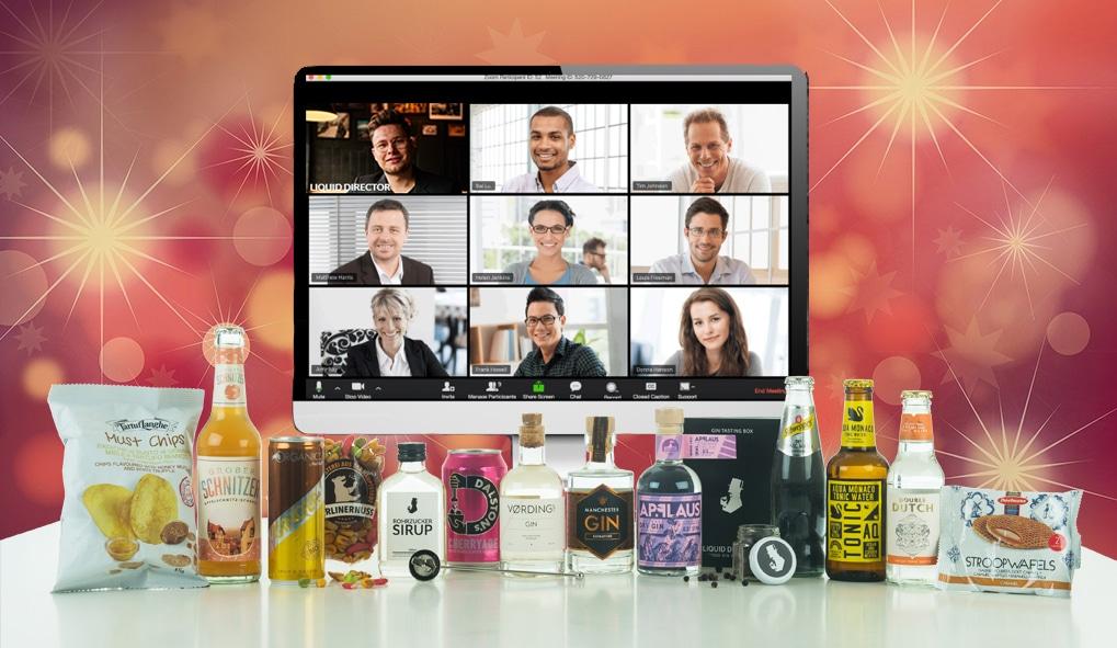 Weihnachtsfeier mit Online Gin Tasting für Firmen