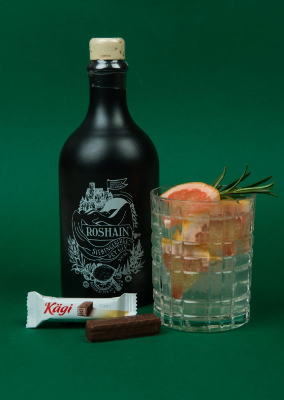 Roshain Gin mit Charlie Limonade als Perfect Serve