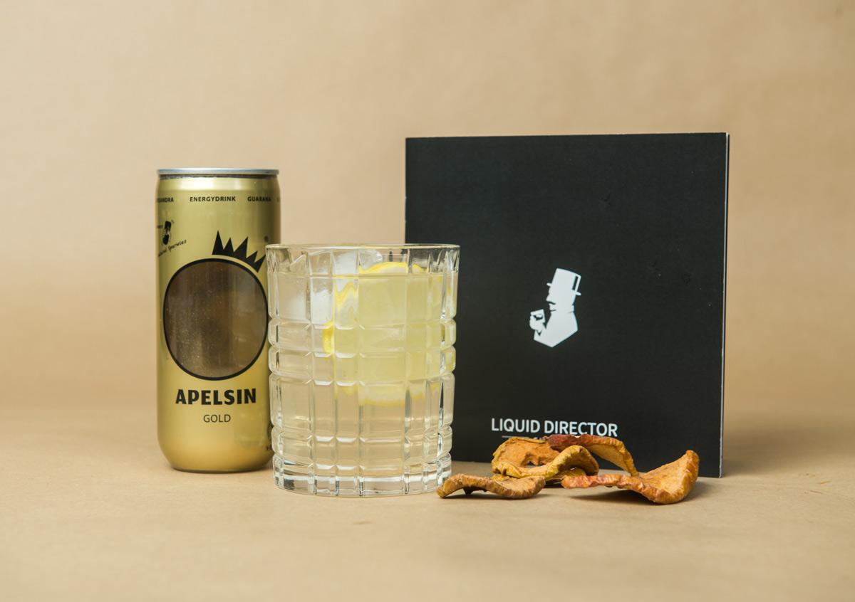 Apelsin Energy Drink mit Gin