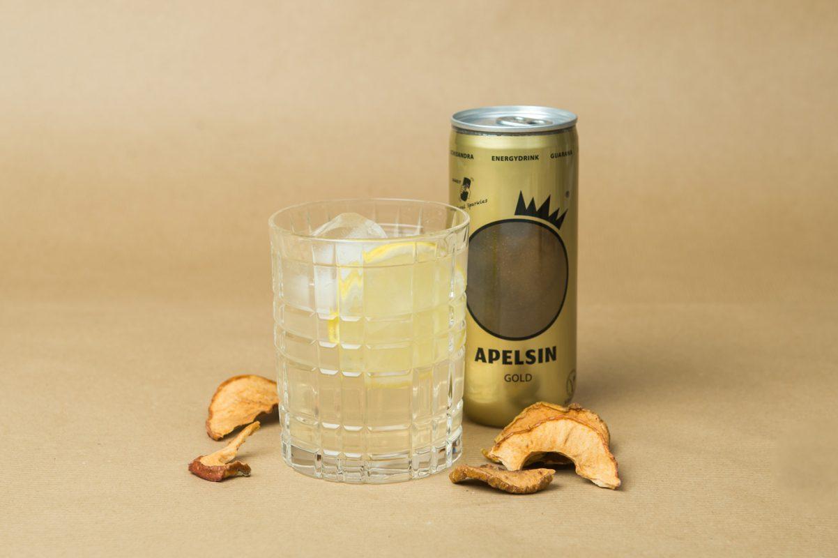Apelsin Getränk mit Gin als Cocktail