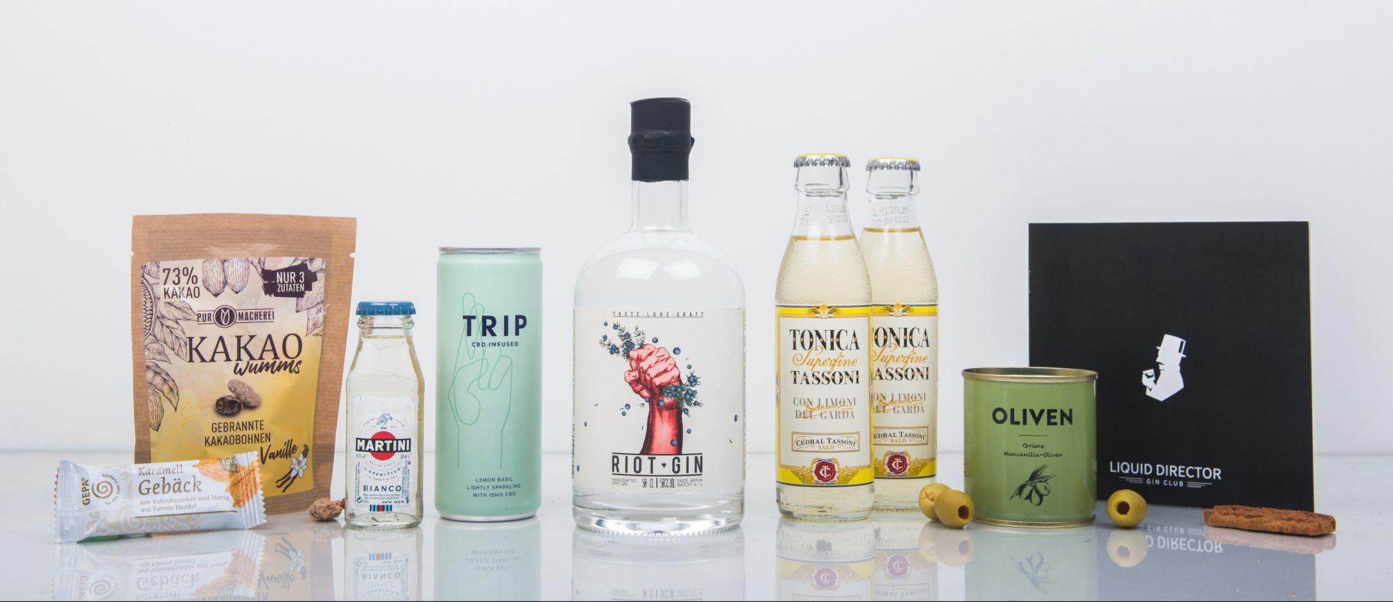 Der Riot Gin im Liquid Director Gin Abo