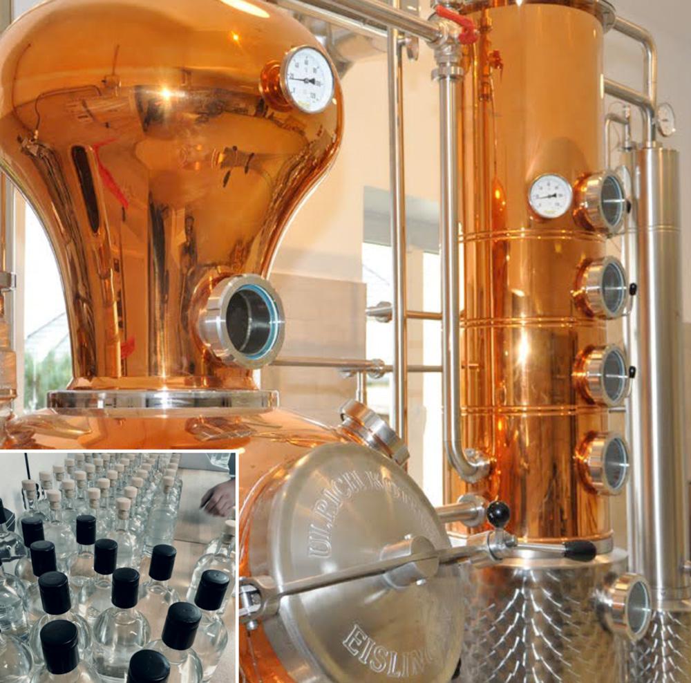 Einblick in die Destillerie vom Riot Gin