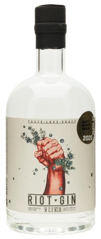 Gin Flasche vom Riot Gin
