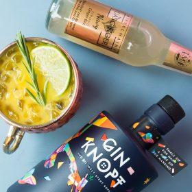 Freezing Mangoginger Cocktail mit Gin, Mango und Ginger Beer