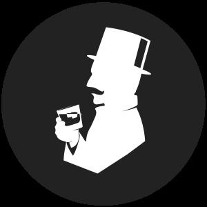 Liquid Director Gin Club Logo rund - schwarz