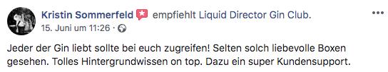 Kundenbewertung zum Liquid Director Gin Club