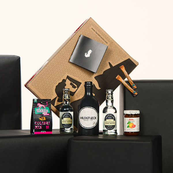 Wildstueck Gin Box mit Marille Cocktail