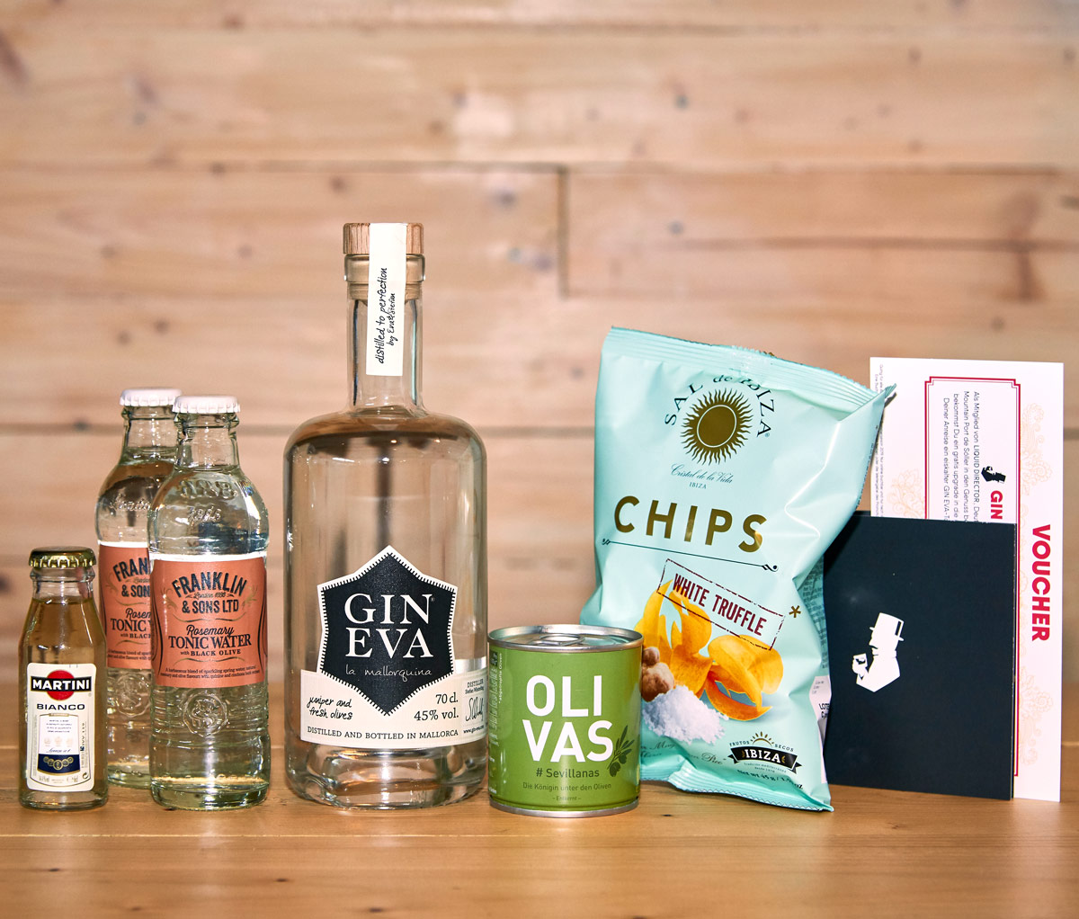Gin Box mit Thema Mallorca mit Gin Eva
