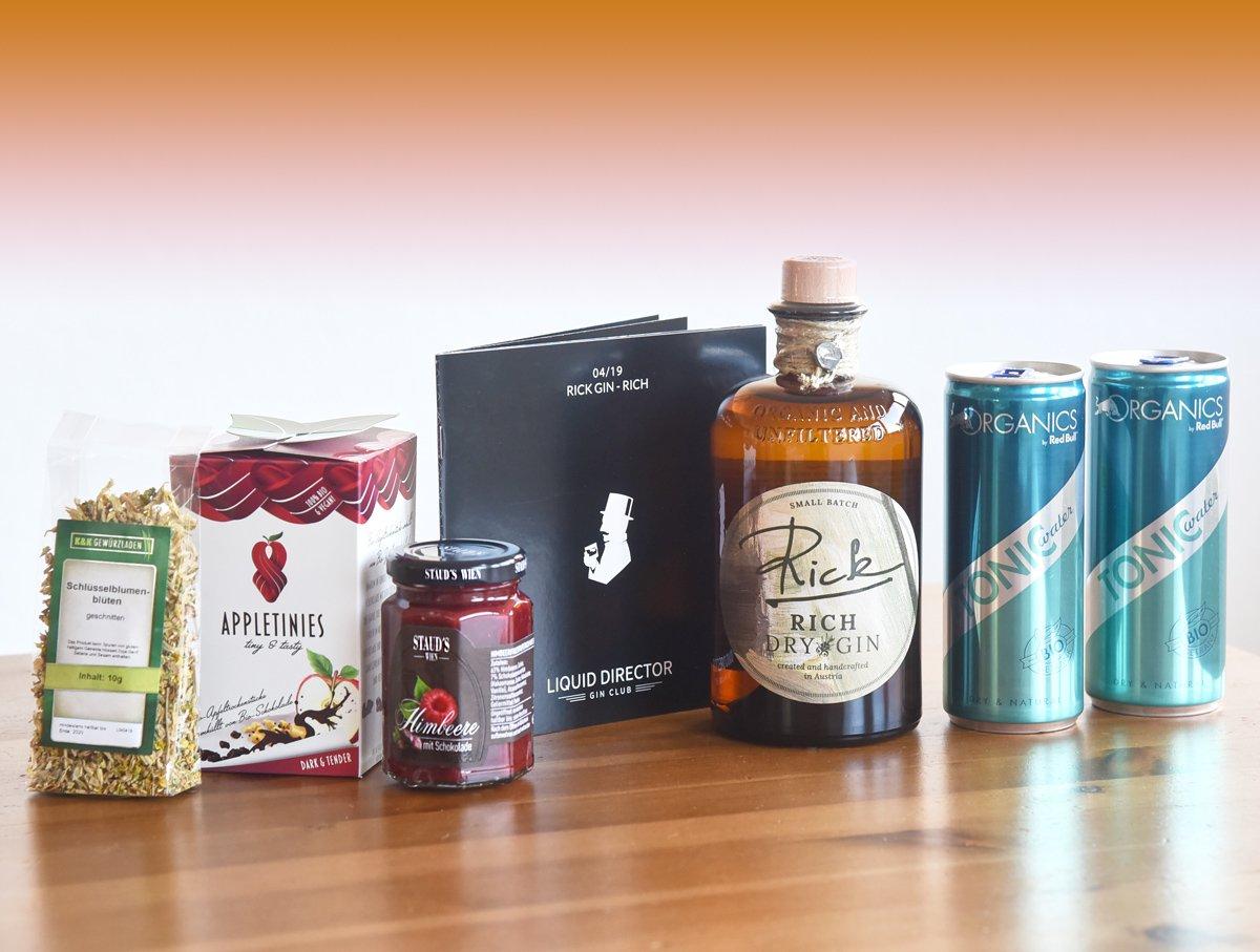 Der Rick Gin in der Österreich-Box