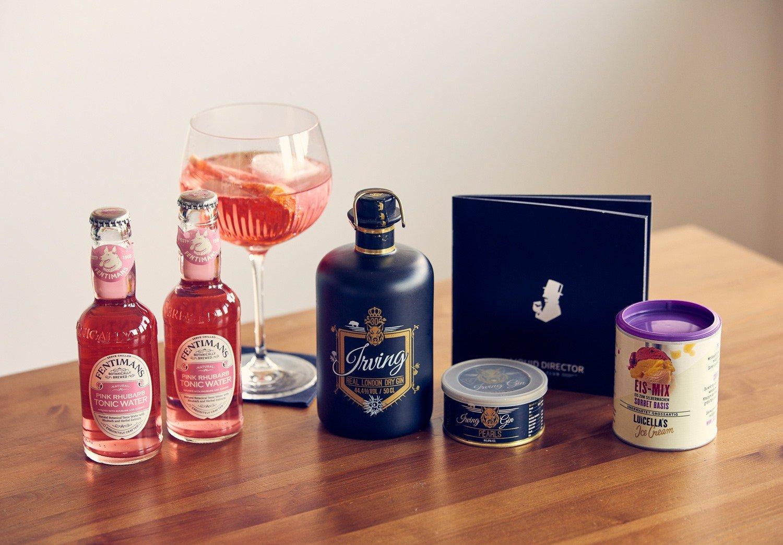 Irving Gin mit passenden Tonic Water für einen leckeren Pink Gin Tonic.