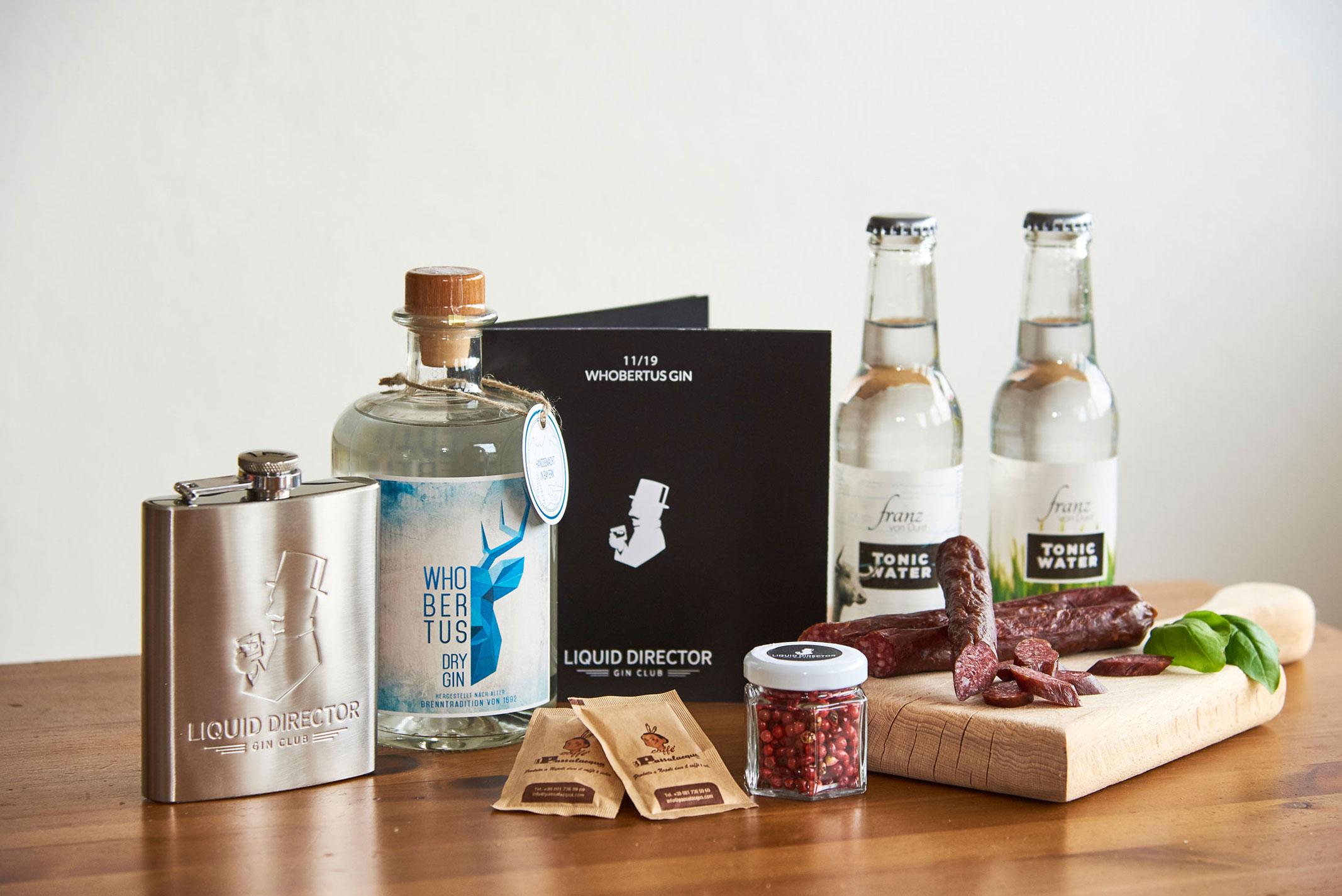 Whobertus Gin mit Franz von Durst Tonic Water, AlpenSepp Hirschbeißer