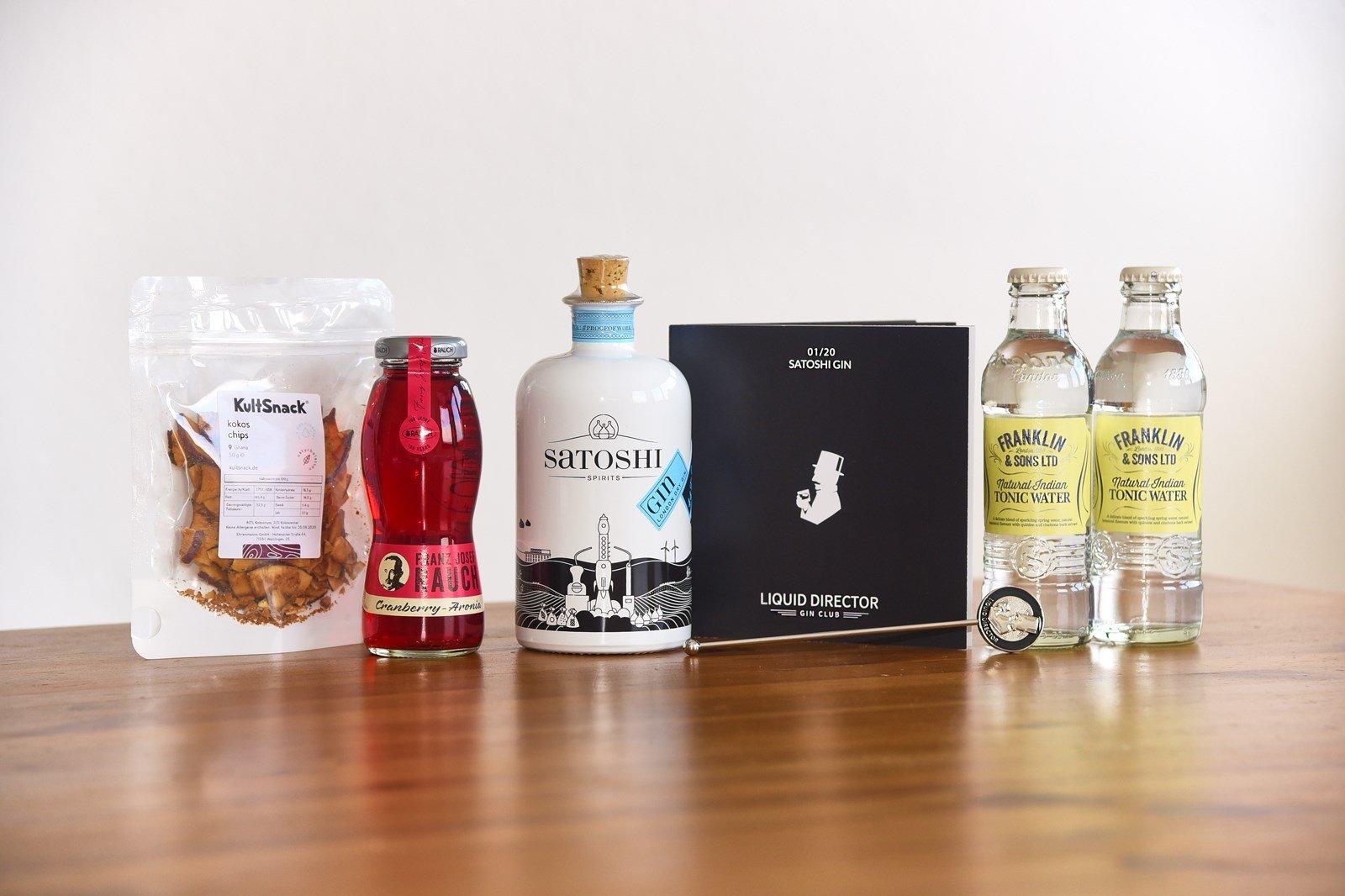 Satoshi Gin als Gin Geschenkset