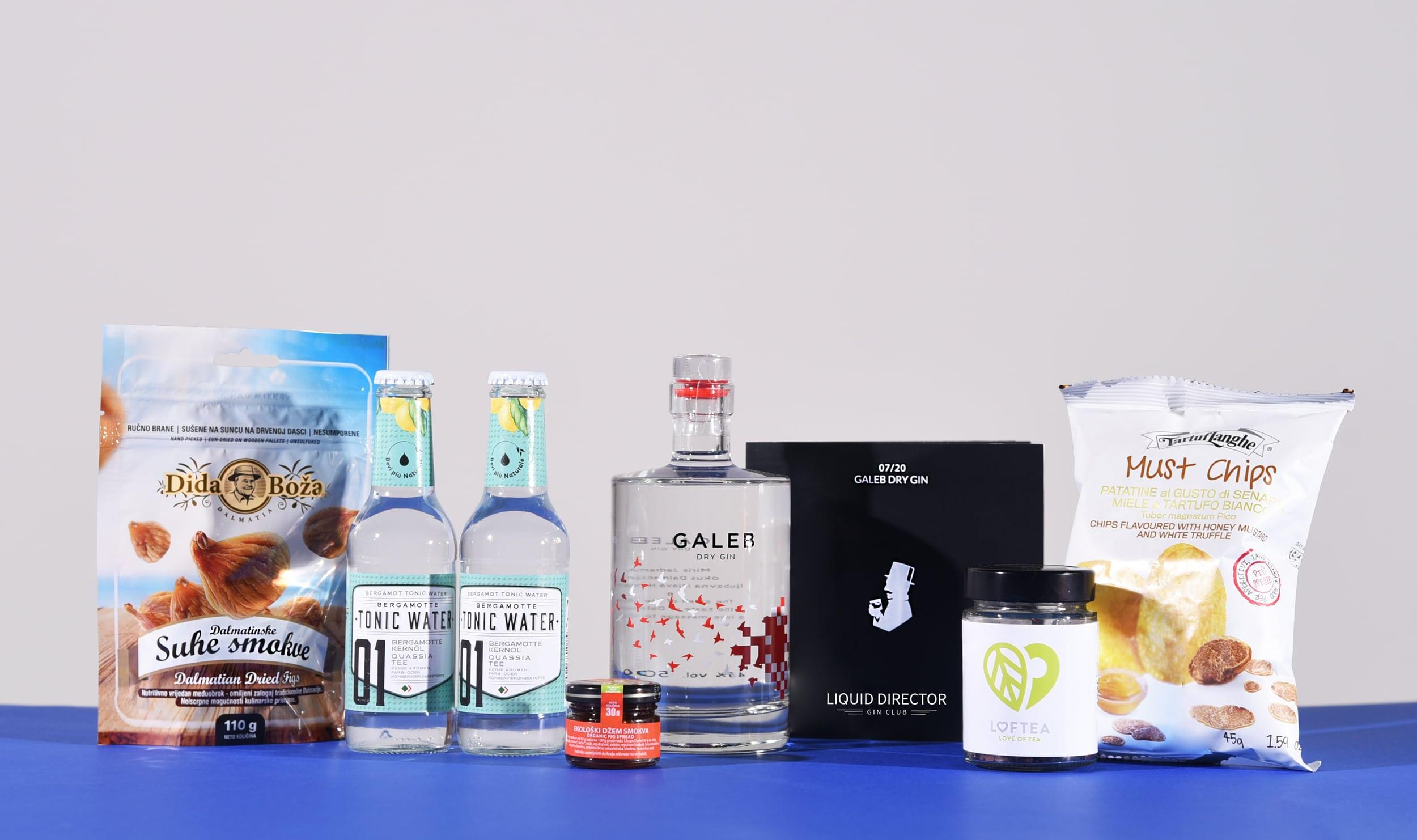 Kroatien Gin Box mit Galeb Dry Gin